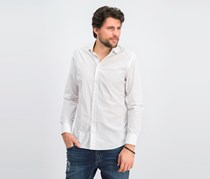 Men's Slim Fit Disty Print Casual Shirt, Blue/Red/White