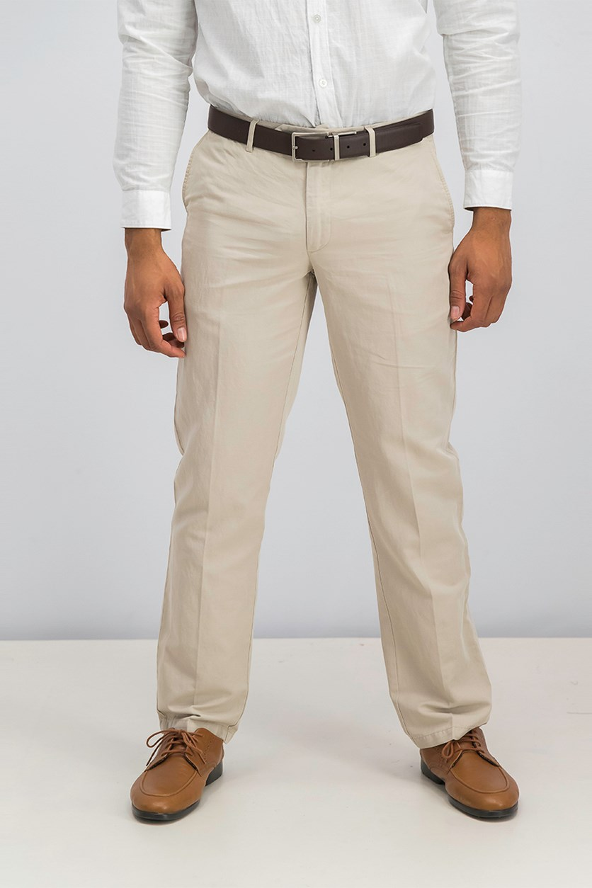 Men's Belt Loops Chino Pants, Safari