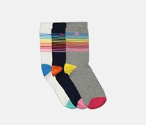 Original Penguin Kids Girl's 3 Pack Socks, Rainbow