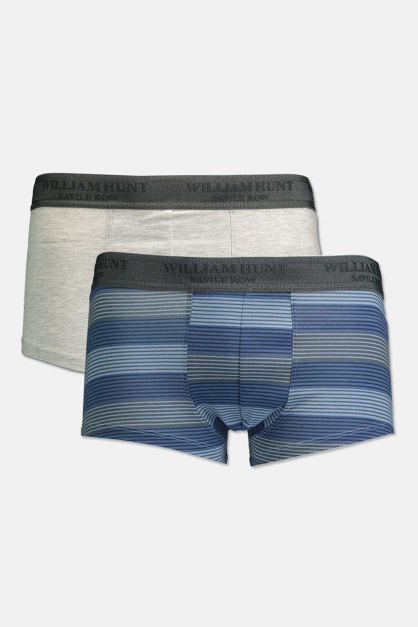 Men's Boxer Set Of 2, Blue/Gray