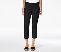 Style & Co Women's Petite Pull-On Capri Jeans, Deep Black
