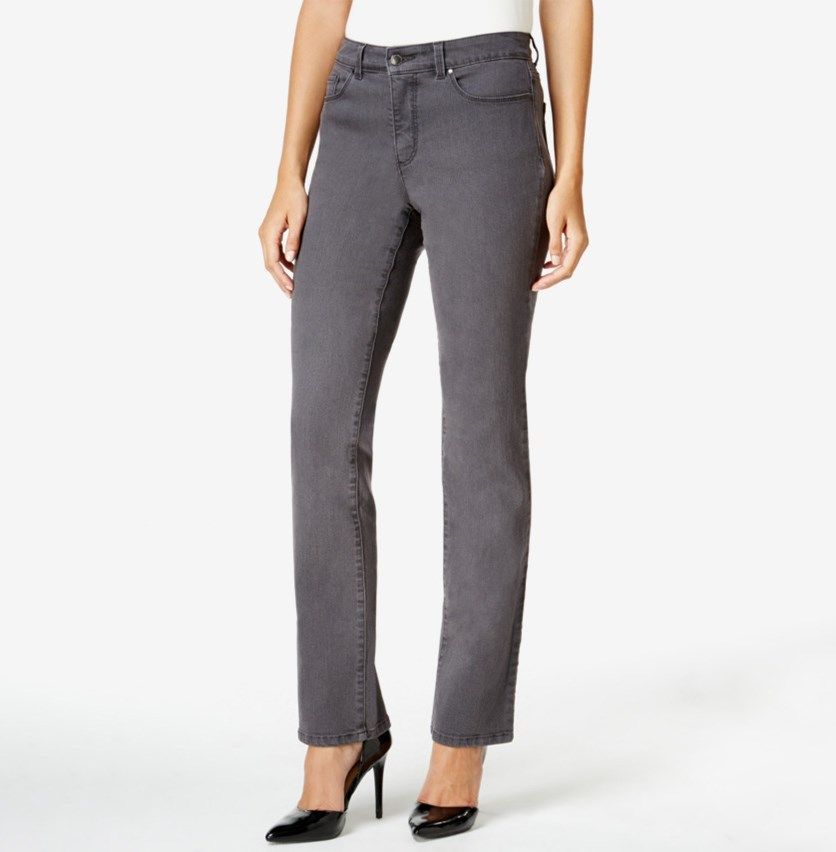 Women's Straight-Leg Jeans, Slate Grey Wash