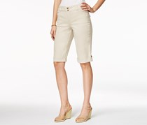Charter Club Women's Cuffed Bermuda Shorts, Beige