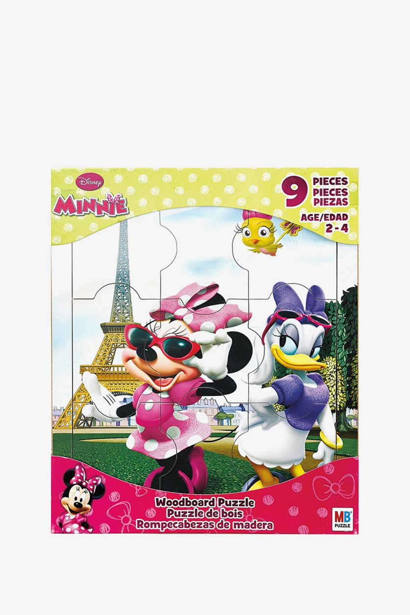 Disney Minnie Mouse Wood Puzzle Board, Green/Pink