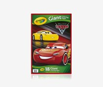 Crayola Cars Giant Colouring Page, Red/Yellow