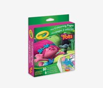 Crayola Trolls Mini Colouring Pages, Green