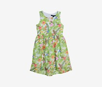 Nautica Kids Girl's Tropical Floral Dress, Green Combo