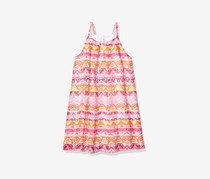 Nautica Girls' Spaghetti Strap Fashion Dress, Dark Pink Combo