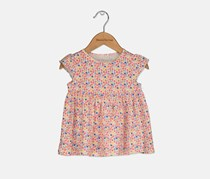 First Impression Baby Girl Floral Print Tunic, Pink Dogwood