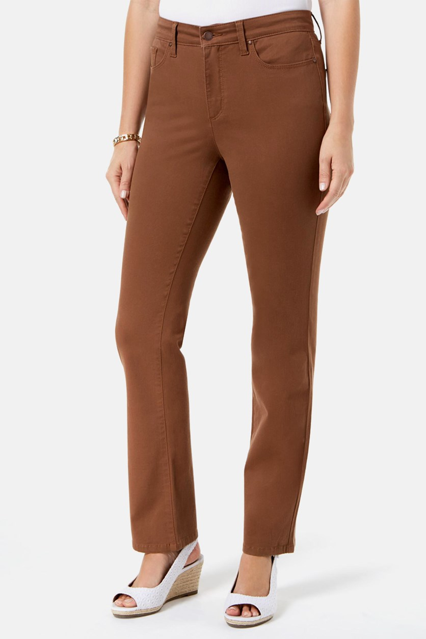 Women's Lexington Straight-Leg Jeans, Copper Cognac