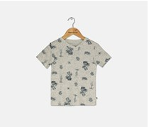 Lucky Brand Little Boys Graphic T-Shirt, Oatmeal Heather