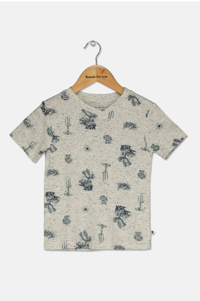 Little Boys Graphic T-Shirt, Oatmeal Heather