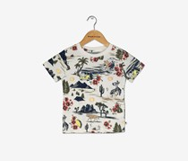 Lucky Brand Boys' Short Sleeve Graphic Tee Shirt, Marshmellow