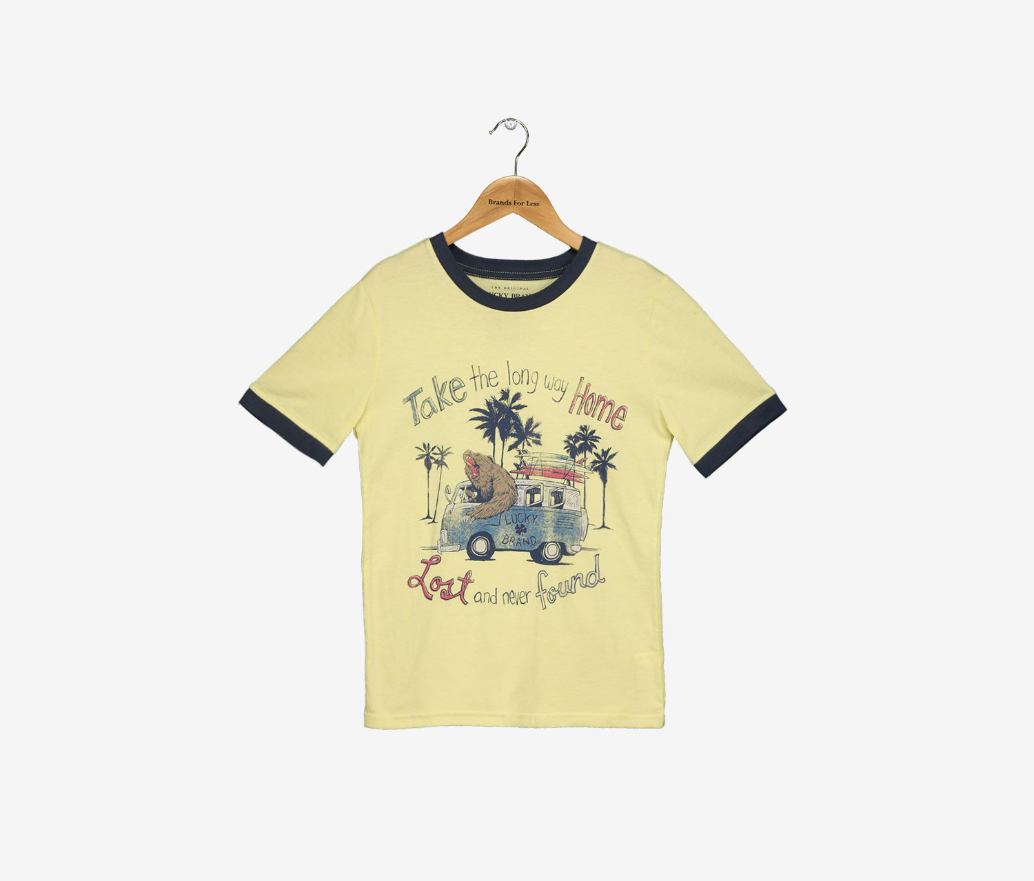 Boys Take The Long Way Home Tee, Custard Heather
