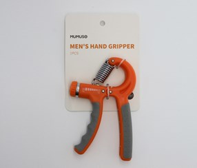 Men's Hand Gripper, Orange/Grey