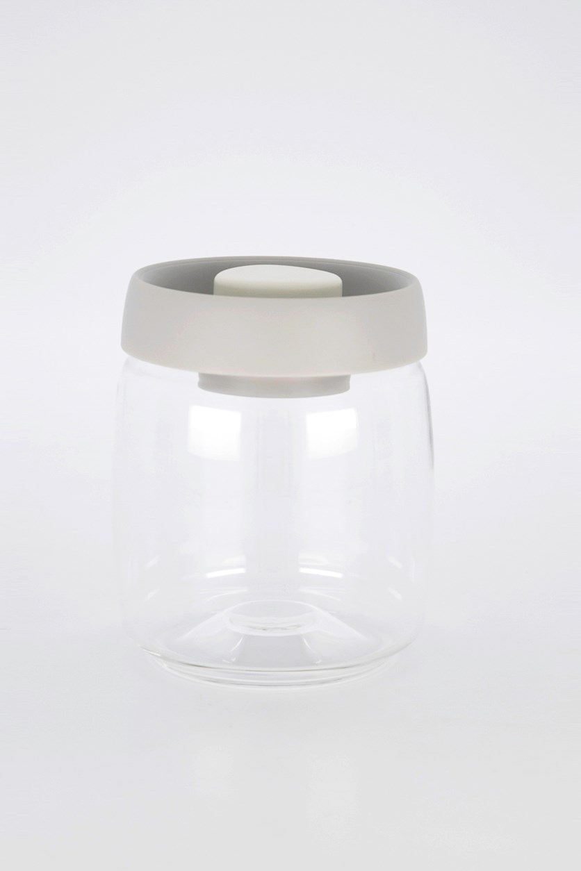 Vacuum Food Container 800 mL, Transparent/Gray