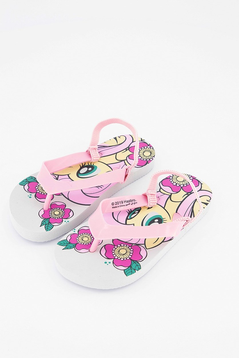 Toddlers My Little Pony Slippers, Pink/White Combo