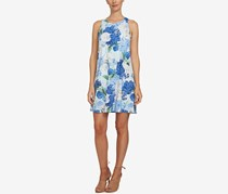 CeCe Women's Floral-Print Shift Dress, Blue