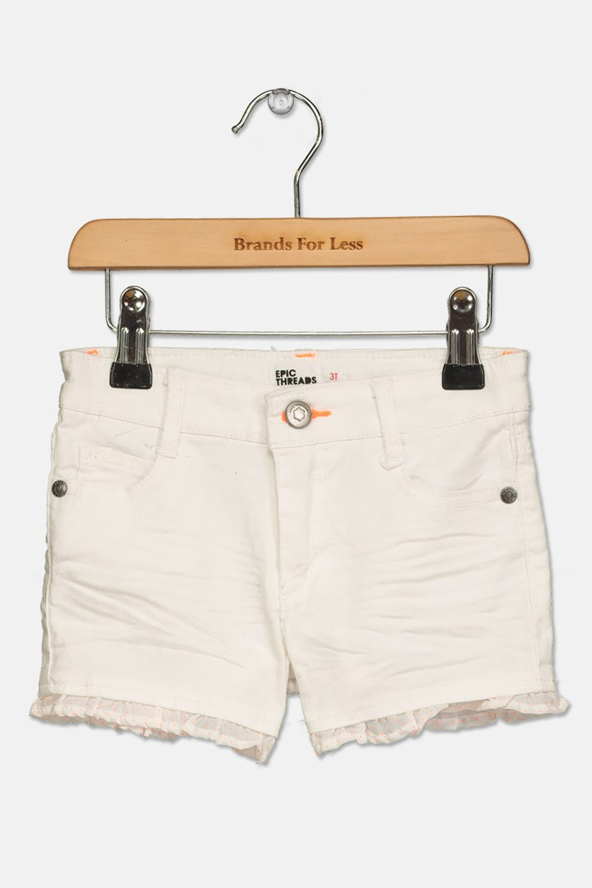 Epic Threads Toddlers Girl's Belt Loops Shorts, White