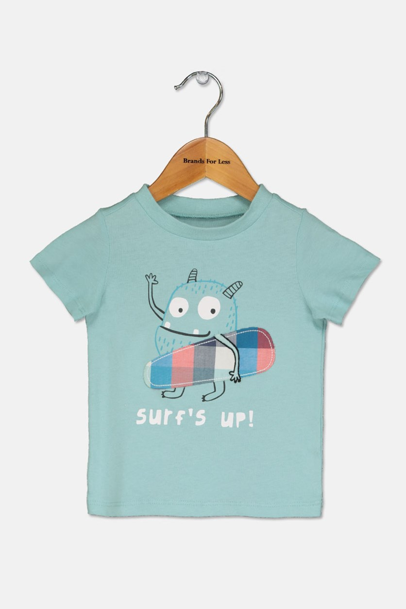 Graphic-print T-Shirt, Aqua Haze