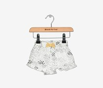 First Impressions Printed Cotton Shorts, Bright White