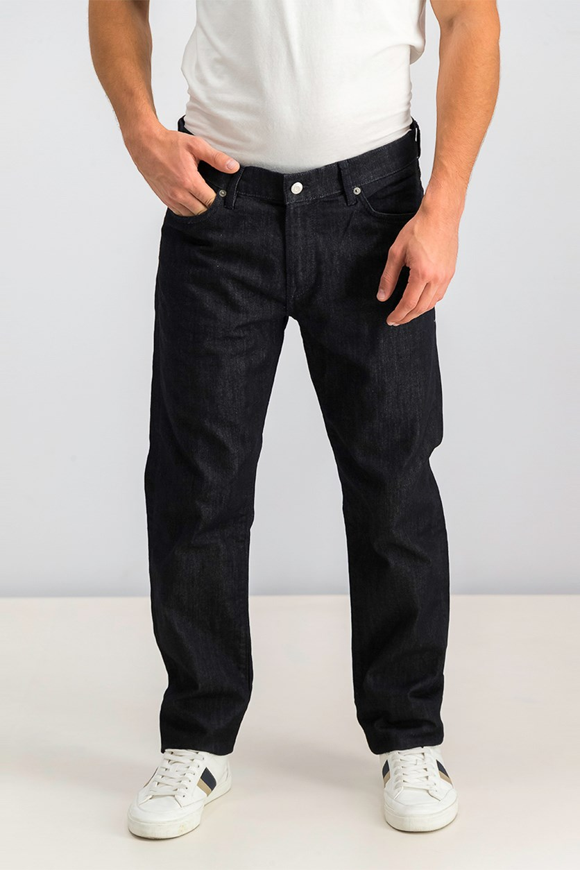 Men's Slim Straight All Weather Jeans, Navy