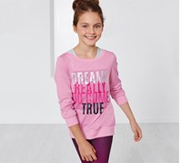Girls Sweatshirt With Tank Top, Pink