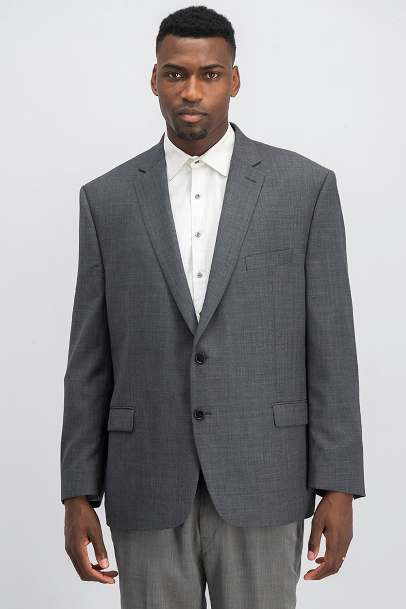 Mens Classic Fit 2 Button Blazer, Grey