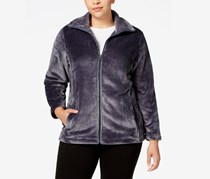 Women's Plus Fall Fleece Jacket, Thunder