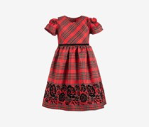 Toddlers Girls Textured Dress, Red