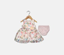Rare Editions Floral-Print Party Dress, Pink