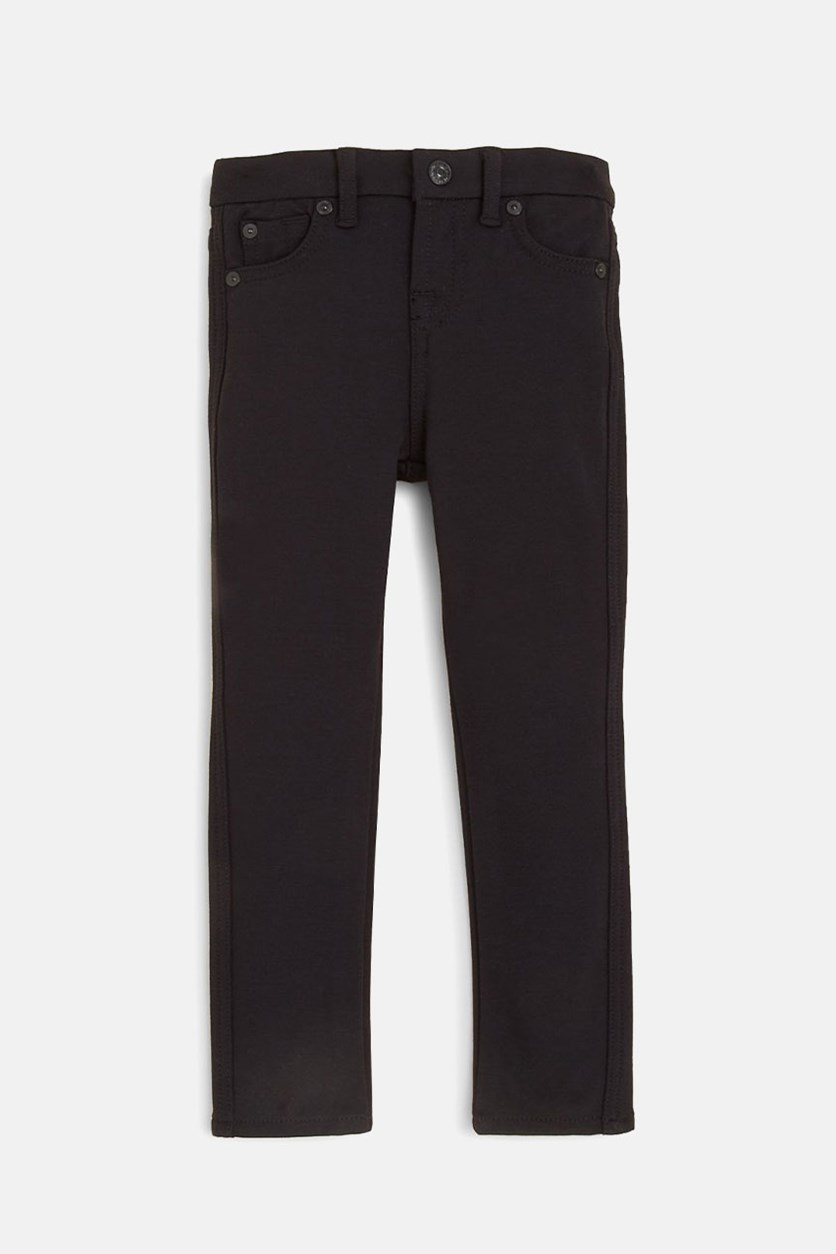 Toddler Girl's Skinny Pants, Black