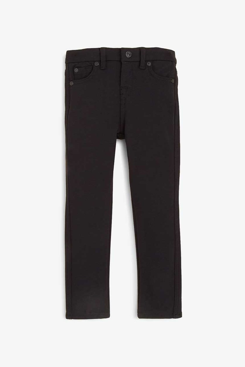 Little Girl's Black Skinny Jeans, Black