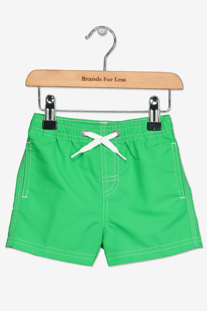 Little Boy's Boardshort, Bright Green