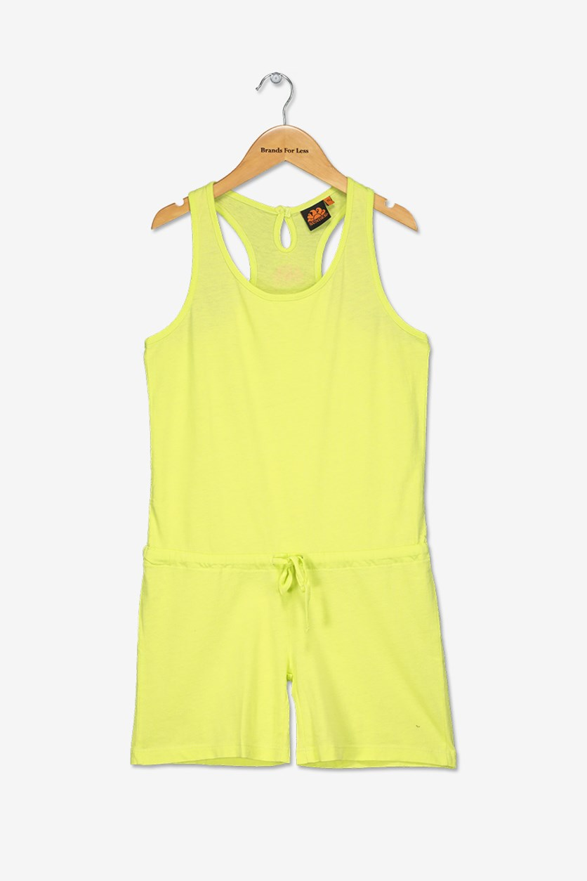 Girl's Mini Marilyn Romper, Lime