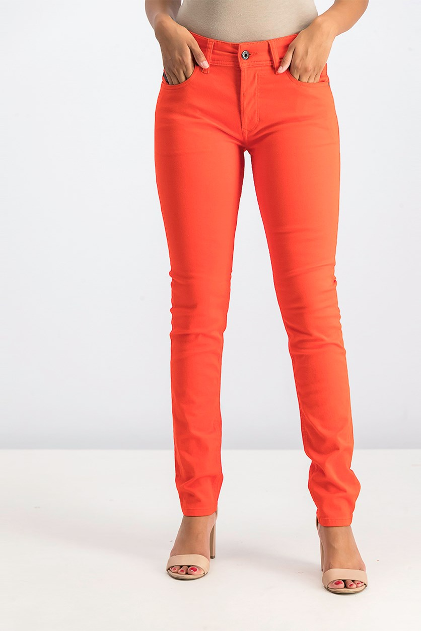 Women's Skinny Jeans, Red