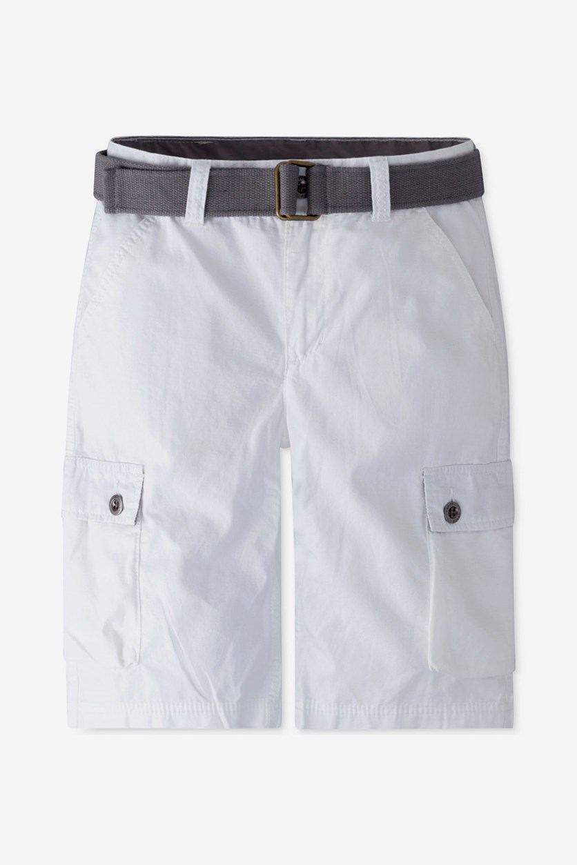 Kids Boys Westwood Cotton Cargo Shorts, White