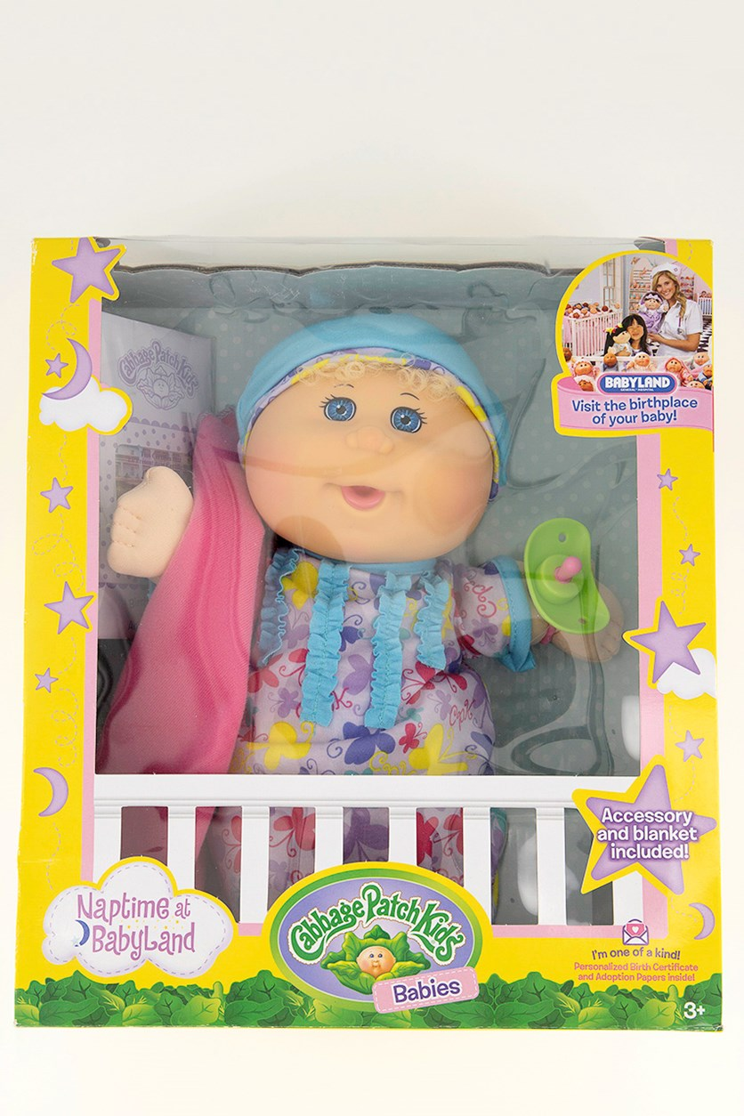 Naptime Babies Doll, Purple/Blue Eye