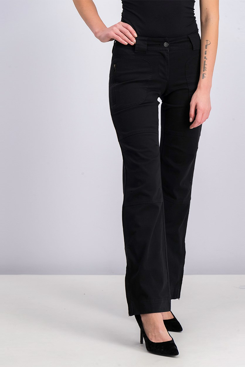 Women's Chino Pants, Black