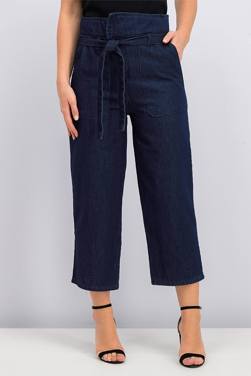Women's Panama Crop Jeans, Navy