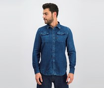 G-Star Raw Men's Landoh Shirt, Indigo