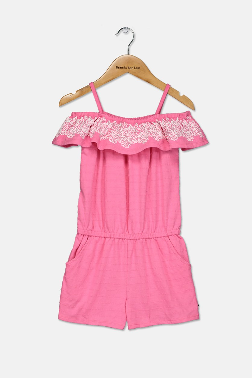 Little Girls Romper, Pink