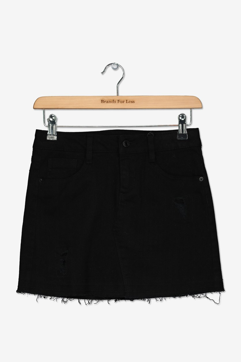 Big Girl's Mini Skirt, Black
