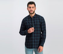 California Men Long Sleeve Casual Shirt, Black Combo