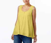 Style & Co Women's Swing Sleeveless Blouse, Yellow