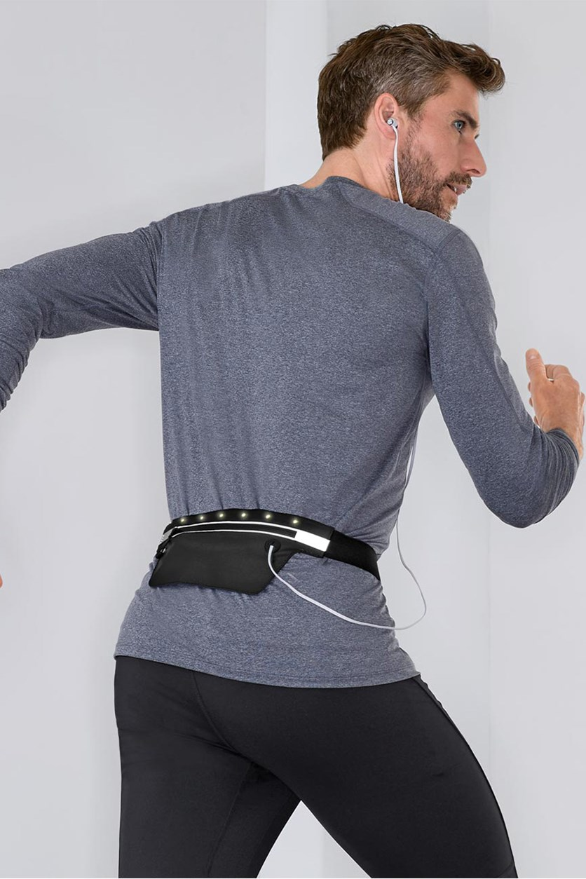 Led Running Belt for Smartphone, Black