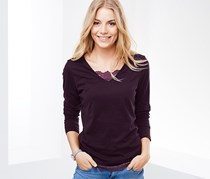 Women's Long Sleeved Top, Purple
