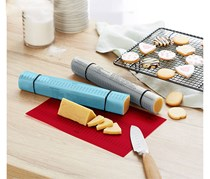 Biscuit Shaping Mats Set Of 3, Blue/Red/Grey
