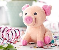 Grunting Lucky Pig Soft Toys, Pink