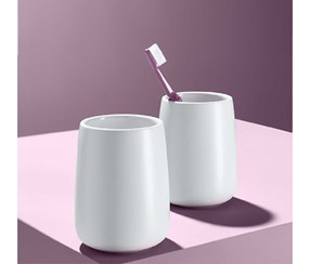 Cup Set Of 2, White